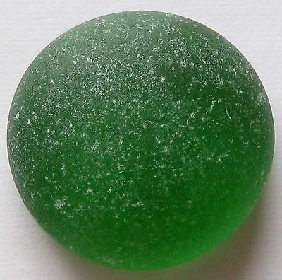 Rare Beach Sea Glass Flat Marble Cabochon Green 1 Pc Authentic Surf Tumbled