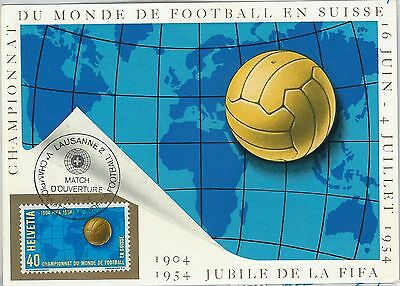 62729 - SWITZERLAND - POSTAL HISTORY: MAXIMUM CARD 1954 - FOOTBALL Championship
