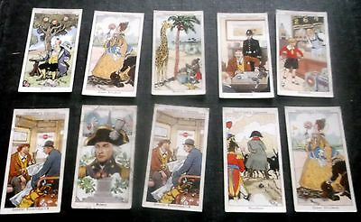 10 Churchman Cigarette Cards Howlers
