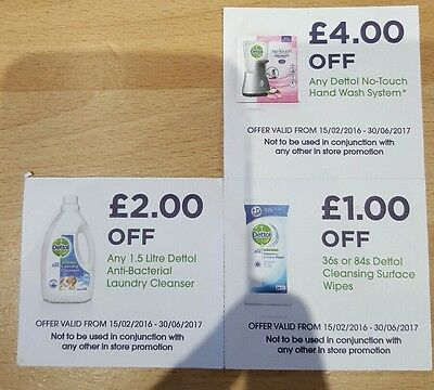 Money Off Voucher Coupon Dettol No Touch Hand Wash System, Cleansing wipes.