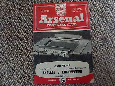 England v Luxembourg 1961-2