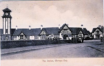 1905 GB Wemyss Bay railway station postcard used from Skelmorlie
