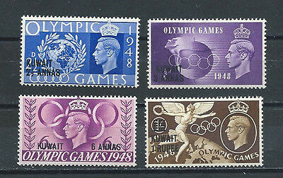 Kuwait , Great Britain , 1948 , Olympics , Set Of 4 O.p. & R.v. , Perf, Mnh