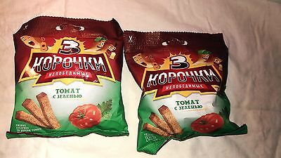 CRACKERS RUSSIAN Taste:TOMATO , AND PLANTS  Snack to beer (2,8 oz) 80g