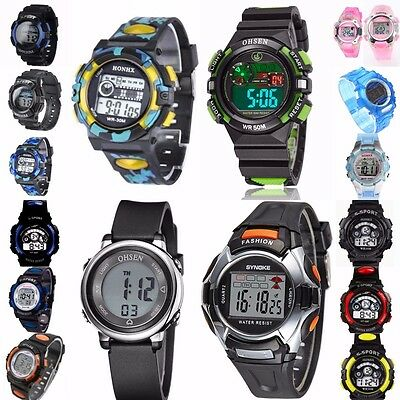 SPORT Watch Men Boys,Girls Digital Alarm Date LED Wrist watch OHSEN,HONHX,SYNOKE