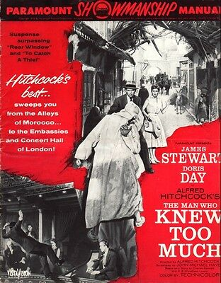 THE MAN WHO KNEW TOO MUCH pressbook AND presskit: Alfred Hitchcock. Doris Day