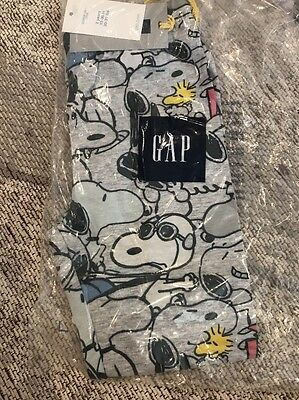 NWT Baby Gap Peanuts Leggings Size 2T Grey Snoopy