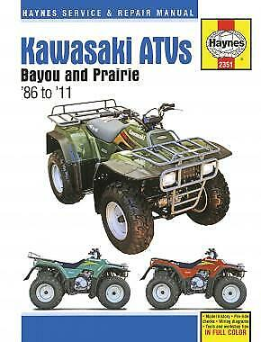 Manual Haynes for 2000 Kawasaki KLF 300 B13 Bayou