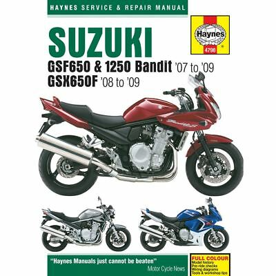 Manual Haynes for 2007 Suzuki GSF 650 SA-K7 'Bandit' (Faired/ABS)