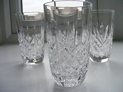 4 x Waterford 'Marquis'  Whisky Glasses Tumblers