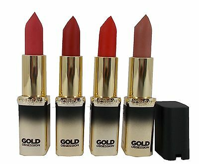 L'oreal Loreal  Paris Color Riche Gold Obsession Lipstick choose shade