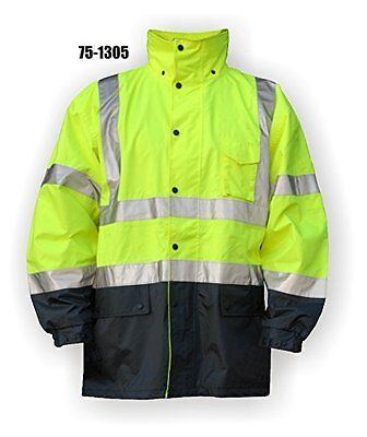 Majestic CLASS 3 YELLOW RAIN JACKET WITH HIGH VISIBILITY - 2X LARGE, YELLOW(7...