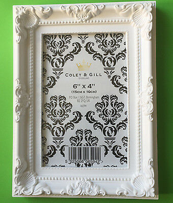 """White French Vintage Ornate Shabby Chic Picture Photo Frames 6"""" X 4""""inch 10x15cm"""