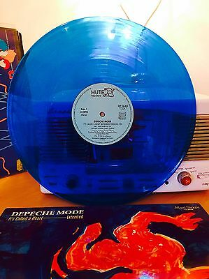 "Depeche Mode 12"" Single Blue Vinyl Record Its Called The Heart German Edition 85"
