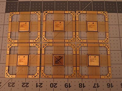 6 Unfinished Ceramic Blank Cpu Chip Scrap Gold Recovery Collector Item Or Crafts