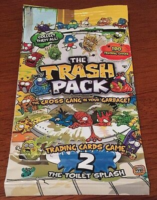 One Pack of Trash Pack Trading Cards Game.  Series 2 The Toilet Splash.  Sealed