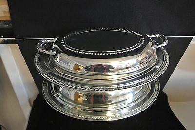 Wm. A. Rogers Silver Plate Serving Dish Carefree
