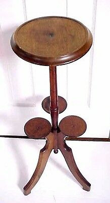 "Antique Victorian 1890's To Tier PLANT STAND / 29""  Tall"