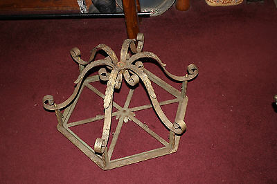 Antique Victorian Art Deco Architectural Chandelier Candle Holder-LARGE-Metal