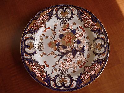 """1810-20 Antique English Derby Porcelain 9 3/4"""" Plate, Colorful, Well Marked"""