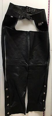 Wilsons Leather Motorcycle Chaps Size Medium Very Good Condition