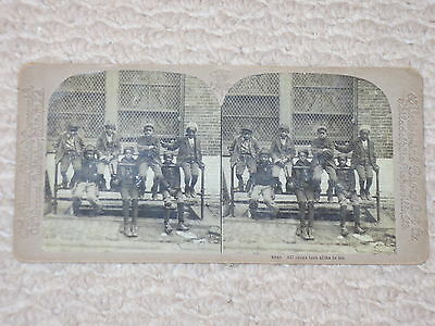 Vintage ORIGINAL RACIST NEGRO STEREOVIEW Photo All coons look alike to me