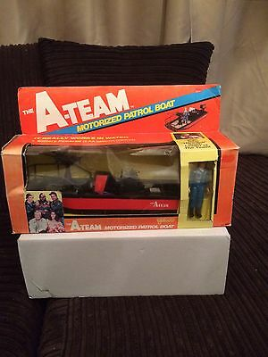 The A Team Vintage 1980s Galoob Motorised Patrol Boat And Hannibal Figure Boxed