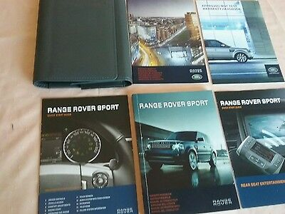 RANGE ROVER SPORT OWNERS MANUAL HANDBOOK autobiography wallet 2012