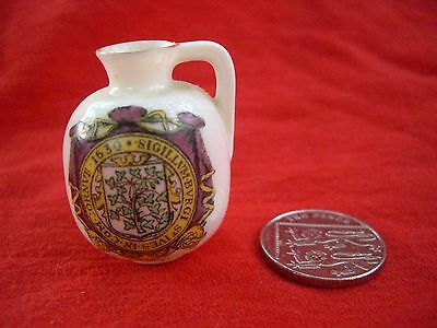 Grafton China (AB Jones and Sons) Crested Ware Jug St Ives 40mm