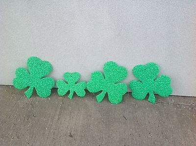 4 Vintage Melted Popcorn St Patrick's Day Shamrocks USA