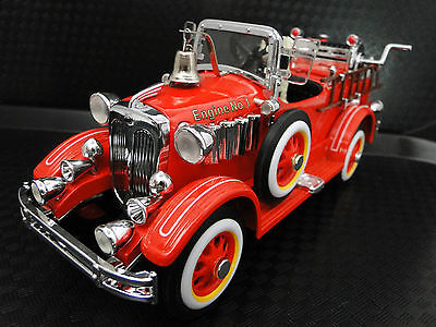 Pedal Car 1920s Cadillac Truck Fire Engine Red Vintage Midget Metal Show Model