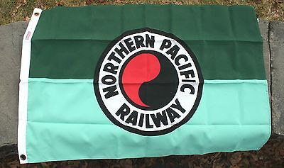 "2'x3' Northern Pacific nylon railroad flag –from ""Flags of Bygone Railroads"" Set"