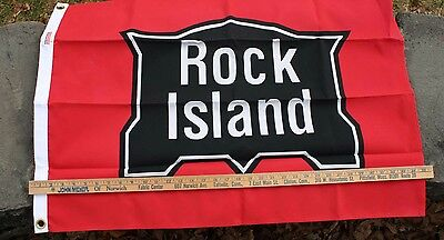 "2'x3' Rock Island nylon railroad flag –from the ""Flags of Bygone Railroads"" Set"
