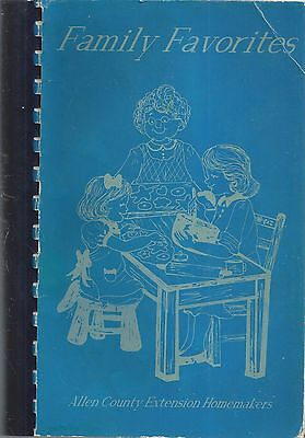 *ossian In 1994 Allen County Ext.homemakers Cook Book *family Favorites *indiana