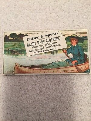 Vintage Advertising Card For Cutler & Spear Clothing