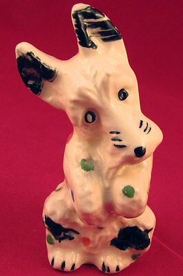 Vintage STANGL Pottery Scotty Scottish terrier dog calico polka dots FREE SHIP