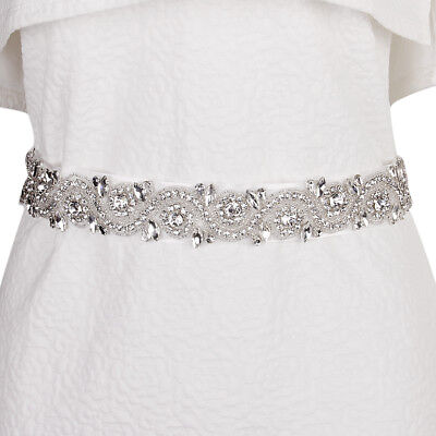Stunning Crystal Bridal Belt Sash Wedding Accessories Glass Rhinestone
