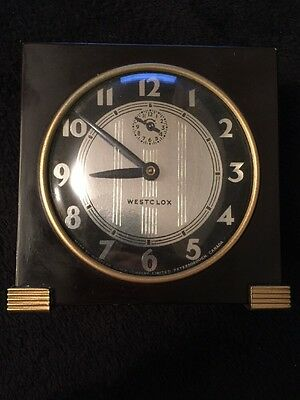 Vintage Windup Art Deco Mantle Alarm Clock Working 30s Or 40s Westclox