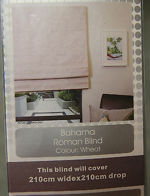 NEW! Large ROMAN BLIND - Wheat colour - 210cm wide - Local pick up Mordialloc