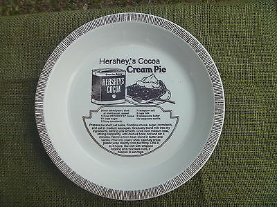 Vintage Hershey Food Corp Royal China Hersheys Cocoa Cream Pie Recipe Dish Plate