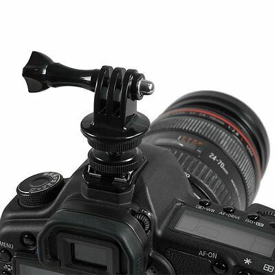 1/4 Tripod Screw Adapter Flash Hot Shoe  For Three Prong Mount Fr Action Camera