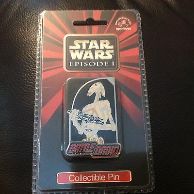 Star Wars Episode 1 Collectible Pin Battle Droids vintage Disney applause NIP