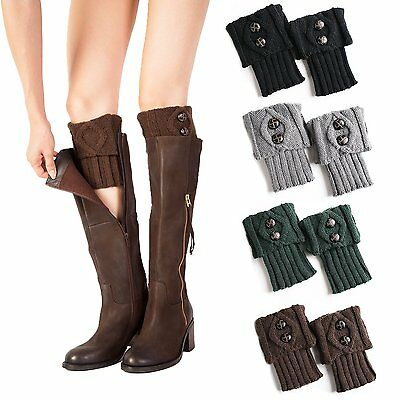 UClever Women Short Crochet Boot Cuffs Toppers Winter Cable Knit Leg Warmers - 4