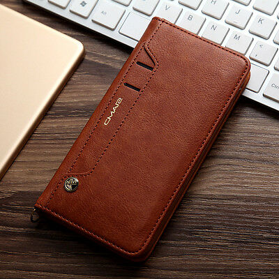 Unique Luxury Flip Leather Men's Wallet Card Stand Case Cover For iPhone Samsung