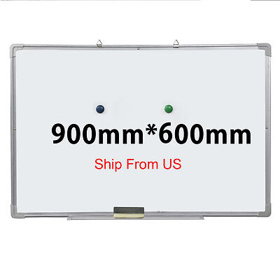 "36""x24"" Single Side Magnetic Writing Whiteboard Dry Erase Board Office W/ Eraser"
