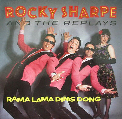 "Rocky Sharpe and The Replays - Rama lama ding dong (1990 4 track 12"" vinyl EP)"