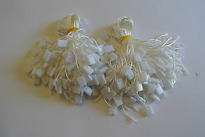 1000 white Fashion Price Label/Tag Threads/Strings one-off lock Retail garment