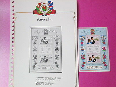 Anguilla Royal Wedding  Stamps With Album Sheet