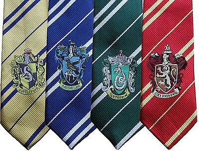 Harry Potter Hogwarts Maison Logo Cravate Wizard Costume École Tie