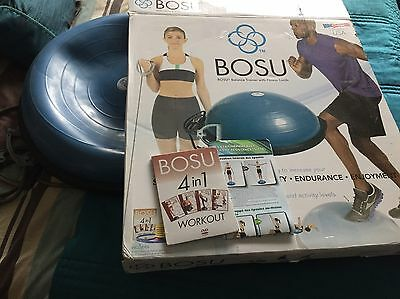 Bosu balance trainer - Good Condition, boxed With Exercise Straps and DVD